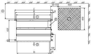 Размеры блоков Mitsubishi Electric