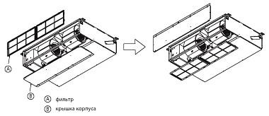 Модификация блока для организации входа воздуха снизу